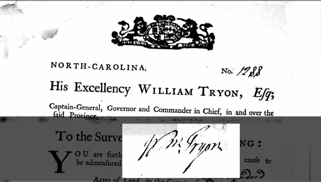 william-tryon-signature