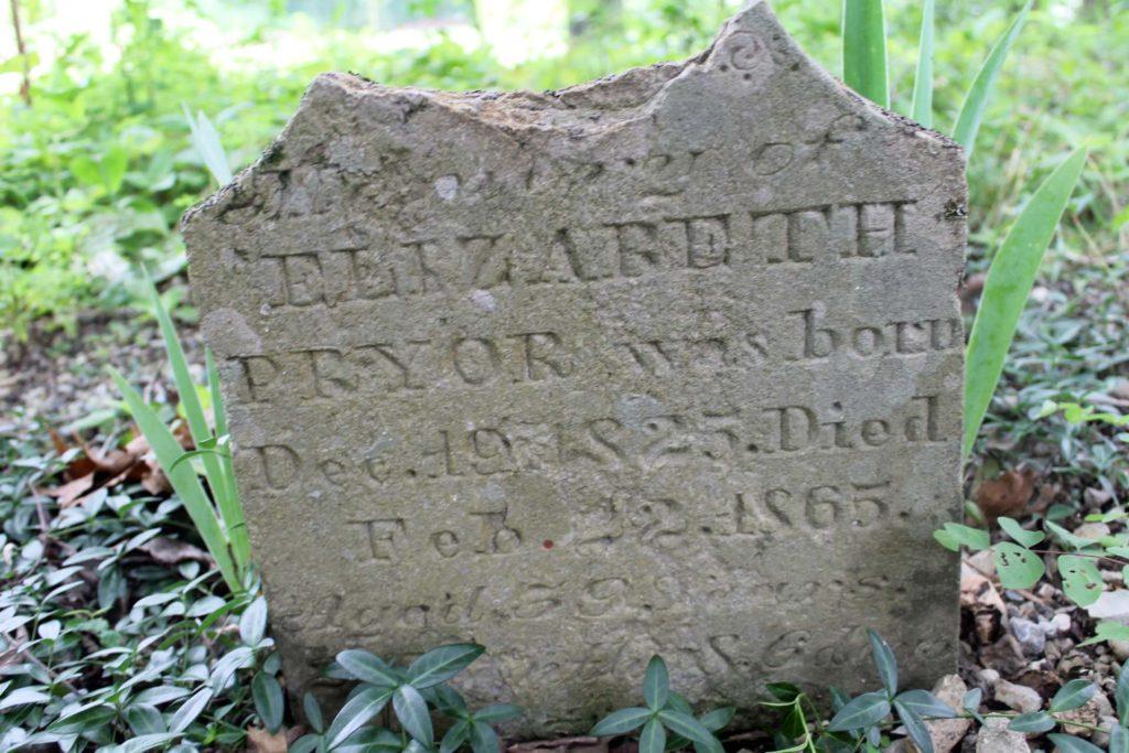 Elizabeth Pryor grave marker
