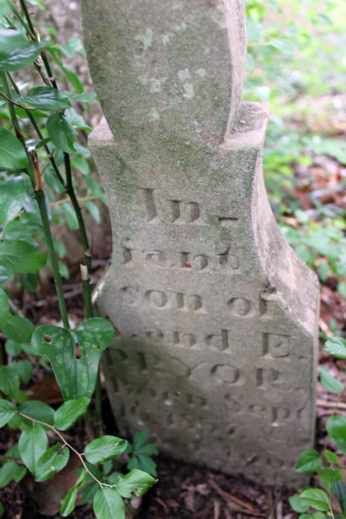 Another view of Infant son Pryor marker
