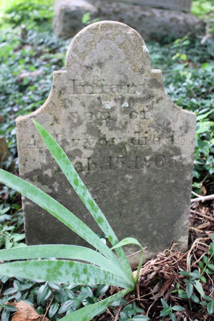 Allen L Pryor infant son grave marker