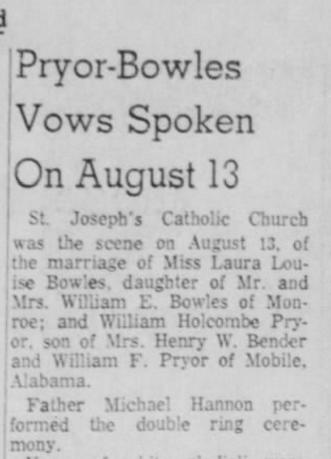 Monroe Morning World, 28 August 1960